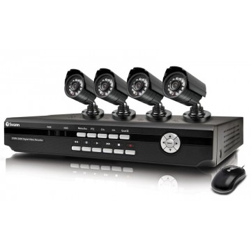 CCTV 4 Cameras DVR Complete Security Solution